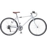 My Pallas マイパラス M-604-WH クロスバイク 700C 6段変速 自転車 ホワイト
