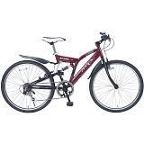 My Pallas マイパラス M-650-3-BO クロスバイク 26インチ 6段変速 リアサス付自転車 ボルドー