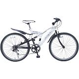 My Pallas マイパラス M-650-3-WH クロスバイク 26インチ 6段変速 リアサス付自転車 ホワイト