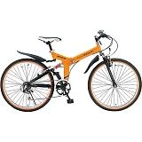 My Pallas マイパラス M-670-OR マウンテンバイク ATB 26インチ 6段変速 Wサス 折畳自転車 オレンジ