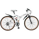 My Pallas マイパラス M-670-WH マウンテンバイク ATB 26インチ 6段変速 Wサス 折畳自転車 ホワイト