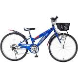 My Pallas マイパラス M-824Z-BL 子供用自転車 24インチ 6段変速 CIデッキ付 ブルー