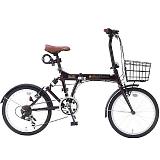 My Pallas マイパラス SC-07 PLUS-EB 20インチ 6段変速 リアサス付折り畳み自転車 エボニーブラウン