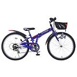 My Pallas マイパラス M-824F-BL MTB 24インチ 6段変速 子供用 折畳自転車 ブルー