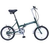 Classic Mimugo FDB16G クラシックミムゴ 16インチ 折畳自転車 グリーン MG-CM16G