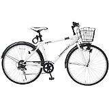 CHEVROLET シボレー クロスバイク 6段変速 700C 自転車 ホワイト MG-CV7006F-RL