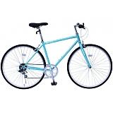 フィールドチャンプ 700C(約27インチ) クロスバイク 6段折畳自転車 ブルー MG-FCP700CF-BL