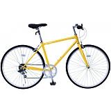 フィールドチャンプ 700C(約27インチ) クロスバイク 6段折畳自転車 イエロー MG-FCP700CF-YE