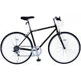 フィールドチャンプ 700C(約27インチ) クロスバイク 6段折畳自転車 ブラック MG-FCP700CF-BK