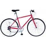 フィールドチャンプ 700C(約27インチ) クロスバイク 6段折畳自転車 レッド MG-FCP700CF-RD