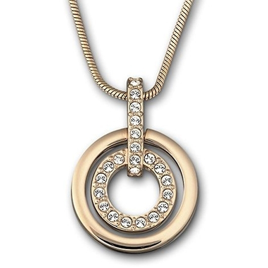 スワロフスキー Circle Rose Gold ペンダント 1081976