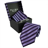 Furbo design フルボ ネクタイ&タイバー&カフス&チーフ 4点セット ネイビー系 21078501COLOR3 733360 405