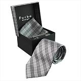 Furbo design フルボ ネクタイ&タイバー&カフス&チーフ 4点セット グレー系 21088331COLOR1 733811 412