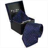 Furbo design フルボ ネクタイ&タイバー&カフス&チーフ 4点セット ネイビー系 24039291COLOR1 733864 415