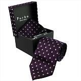 Furbo design フルボ ネクタイ&タイバー&カフス&チーフ 4点セット パープル系 8000851COLOR4 733829 419