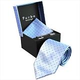 Furbo design フルボ ネクタイ&タイバー&カフス&チーフ 4点セット ブルー系 8318781COLOR4 733862 428