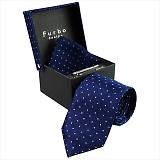 Furbo design フルボ ネクタイ&タイバー&カフス&チーフ 4点セット ネイビー系 8437903COLOR3 733858 433