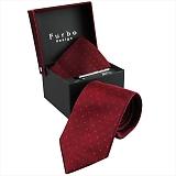 Furbo design フルボ ネクタイ&タイバー&カフス&チーフ 4点セット レッド系 8437903COLOR4 733859 434