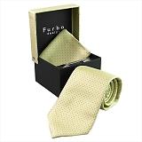 Furbo design フルボ ネクタイ&タイバー&カフス&チーフ 4点セット イエロー系 8516022COLOR6 733869 438