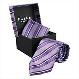 Furbo design フルボ ネクタイ&タイバー&カフス&チーフ 4点セット パープル系 F2177ACOLOR4 733806 442