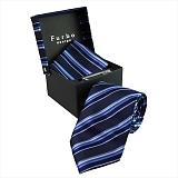 Furbo design フルボ ネクタイ&タイバー&カフス&チーフ 4点セット ネイビー系 F2177KCOLOR4 733746 445