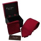 Furbo design フルボ ネクタイ&カフス&チーフ 3点セット レッド系 tk20130409-46-3