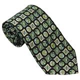 EMILIO PUCCI エミリオ プッチ 紳士 メンズ ネクタイ ブラック×グリーン系 p7022x1