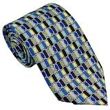 PUCCI エミリオ プッチ ネクタイ ブルー×グリーン系 p8009x2