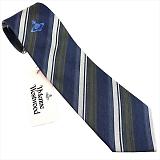 Vivienne Westwood ヴィヴィアン ウエストウッド ネクタイ 8.5cm AW16 DARK BLUE系 10048-CS K288-DARK BLUE