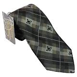ヴィヴィアンウエストウッド ネクタイ ブラック×グレー×ブラウン系 24t85-p19color1
