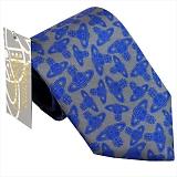 ヴィヴィアンウエストウッド ネクタイ グレー×ブルー系 24t85-p01color5