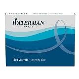 WATERMAN ウォーターマン カートリッジインクSTD23 1本 1.4ml セレニティブルー(フロリダブルー) S2270230