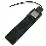 DUNHILL ダンヒル ディーエイト 携帯ストラップ ブラック×ガンメタ L2K083A