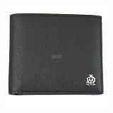 DUNHILL ダンヒル  BOURDON ボードン 小銭入れ付 二つ折り財布 ブラック L2X232A