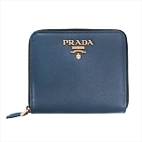 PRADA プラダ 二つ折り財布 1ML522  F0016 BLUETTE  QWA SAFFIANO METAL ORO