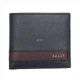 BALLY バリー LYITE.L ボタン小銭入れ付 二つ折り財布 ブルー 6208091