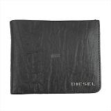 DIESEL ディーゼル ブラック 二つ折り財布 ENJOY-IT! HIRESH S X04138 T8013