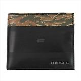DIESEL ディーゼル ブラック×迷彩 二つ折り財布 IRON3 HIRESH S X04151 H6084