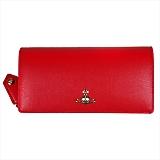 Vivienne Westwood ヴィヴィアンウエストウッド SAFFIANO 長財布 51060025 RED 18SS RED