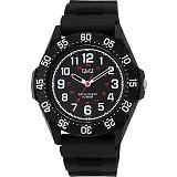 CITIZEN Q&Q シチズン 腕時計 10気圧防水 ブラック×ブラック VR76-002