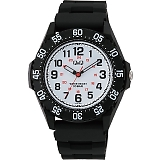 CITIZEN Q&Q シチズン 腕時計 10気圧防水 ホワイト×ブラック VR76-003