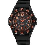 CITIZEN Q&Q シチズン 腕時計 10気圧防水 オレンジ×ブラック VR76-004