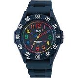 CITIZEN Q&Q シチズン 腕時計 10気圧防水 マルチカラー×ネイビー VR80-001