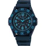 CITIZEN Q&Q シチズン 腕時計 10気圧防水 ブルー×ネイビーVR80-003